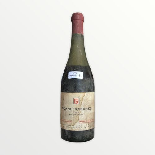 Domaine René Engel, Vosne Romanée 1962, Level 8 cm, label stained and torn, caps…