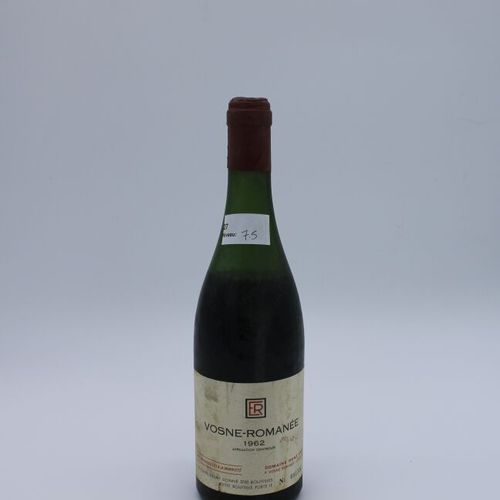 Domaine René Engel, Vosne Romanée 1962, niveau 7.5 cm, étiquette tachée