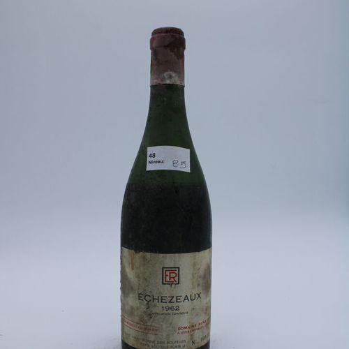 Domaine René Engel, Echezeaux 1962, niveau 8.5 cm, étiquette tachée, manques cap…