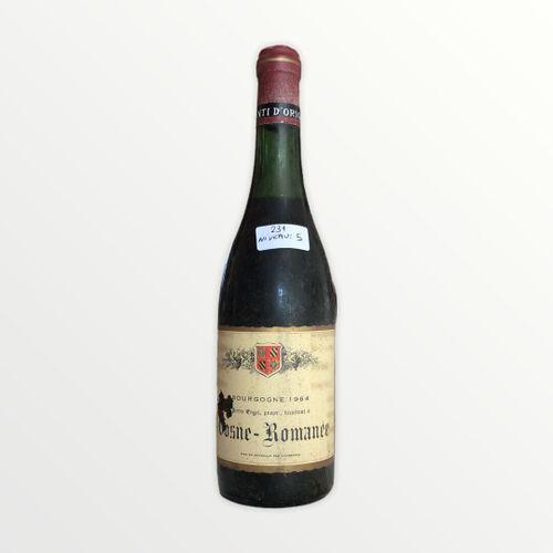 Domaine René Engel, Pierre Engel, Vosne Romanée 1964, Level 5 cm, label stained,…