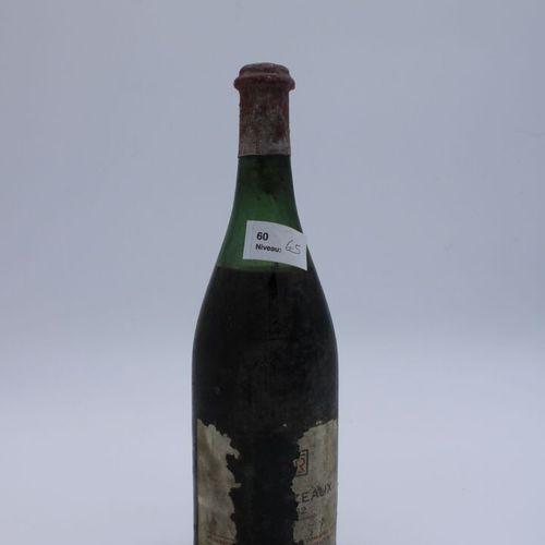 Domaine René Engel, Echezeaux 1962, niveau 6.5 cm, étiquette partielle, capsule …