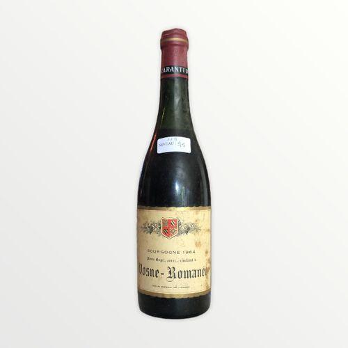 Domaine René Engel, Pierre Engel, Vosne Romanée 1964, niveau 5.5 cm , étiquette …
