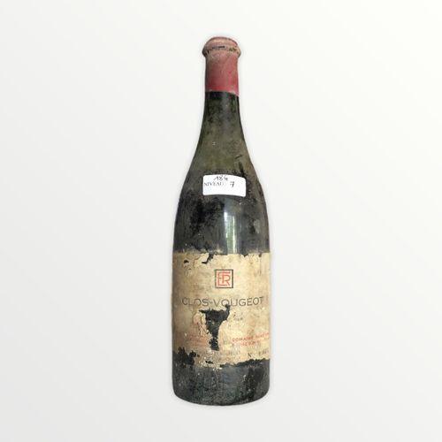 Domaine René Engel, Clos Vougeot probablement 1962, niveau 7 cm, étiquette taché…