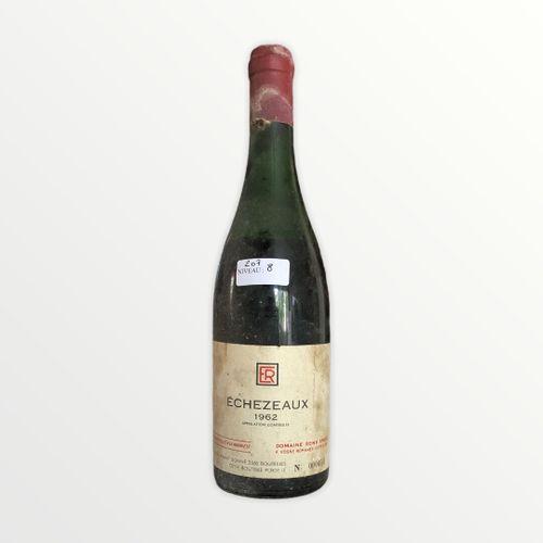 Domaine René Engel, Echézeaux 1962, niveau 8 cm, étiquette tachée, capsule corro…