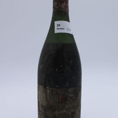 Domaine René Engel, Vosne Romanée 1962, niveau 5.8 cm, étiquette tachée et déchi…