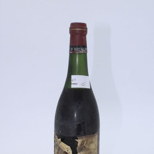 Domaine René Engel, Pierre Engel, Vosne Romanée 1964, niveau 6 cm, étiquette tac…