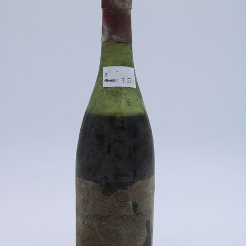 Domaine René Engel, Vosne Romanée 1962, niveau 7.5 cm, étiquette partielle, caps…