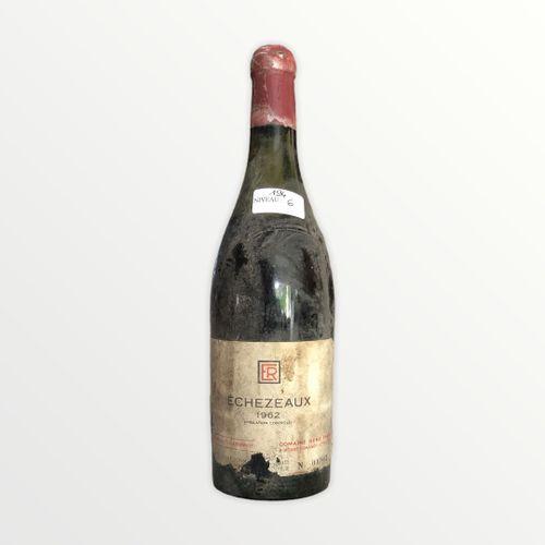 Domaine René Engel, Echézeaux 1962, niveau 6 cm, étiquette tachée et déchirée