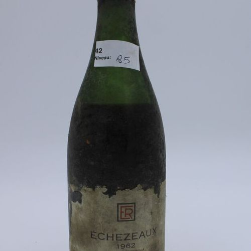 Domaine René Engel, Echezeaux 1962, niveau 8.5 cm, étiquette tachée, manques, ca…