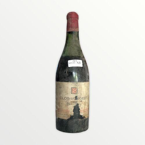 Domaine René Engel, Clos Vougeot 1962, niveau 6.5 cm, étiquette tachée et déchir…
