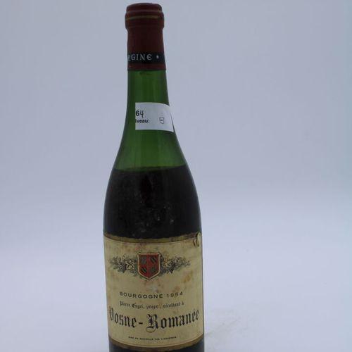 Domaine René Engel, Pierre Engel, Vosne Romanée 1964, Level 8 cm, label stained,…