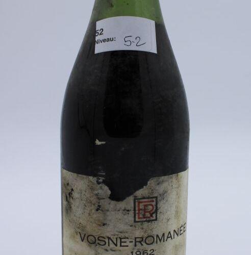 René Engel酒庄,Vosne Romanée 1962年,水平5.2厘米,污渍标签,软木塞脱落