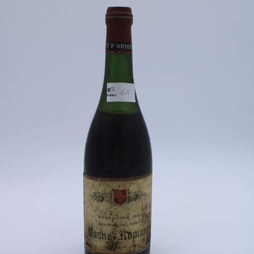 Domaine René Engel, Pierre Engel, Vosne Romanée 1964, niveau 6.5 cm, étiquette t…