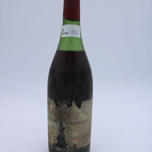 Domaine René Engel, Vosne Romanée 1962, niveau 5.3 cm, étiquette partielle