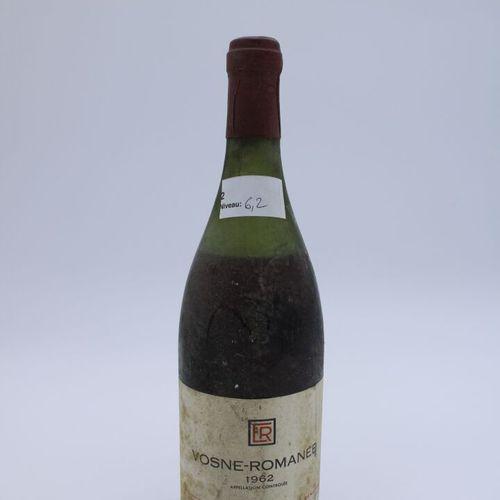Domaine René Engel, Vosne Romanée 1962, niveau 6.2 cm, étiquette tachée