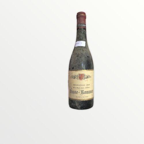 Domaine René Engel, Pierre Engel, Vosne Romanée 1964, Level 8 cm, label stained …