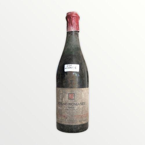 Domaine René Engel, Vosne Romanée 1962, Level 6 cm, label stained and torn, caps…
