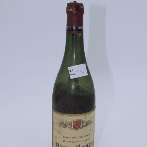 Domaine René Engel, Pierre Engel, Vosne Romanée 1964, Level 10.5 cm, label stain…