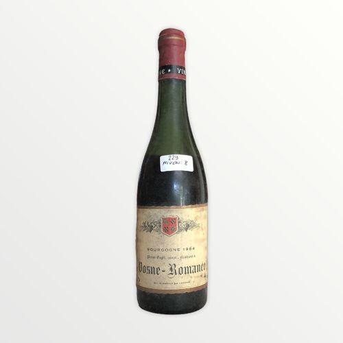 Domaine René Engel, Pierre Engel, Vosne Romanée 1964, 水平8厘米,标签有污点并轻微撕裂,胶囊被腐蚀了