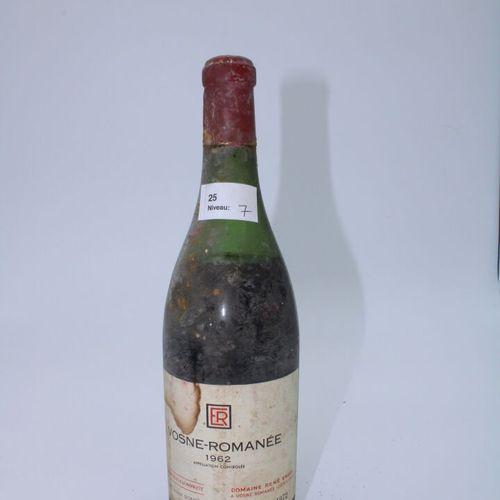 Domaine René Engel, Vosne Romanée 1962, niveau 7 cm, étiquette tachée, capsule c…