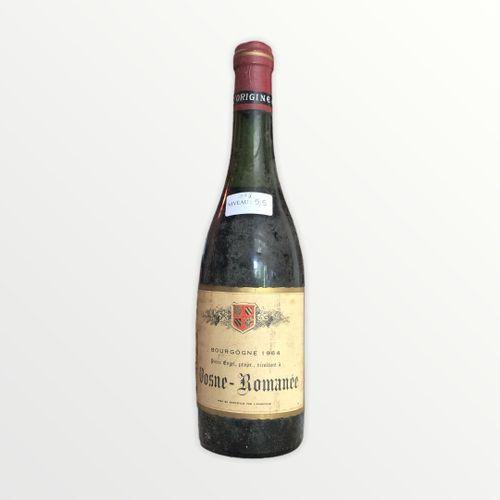 Domaine René Engel, Pierre Engel, Vosne Romanée 1964, Level 5.5 cm, label staine…