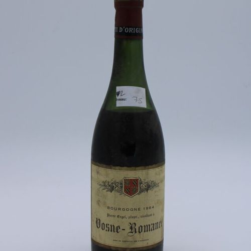 Domaine René Engel, Pierre Engel, Vosne Romanée 1964, Level 7.5 cm, label staine…