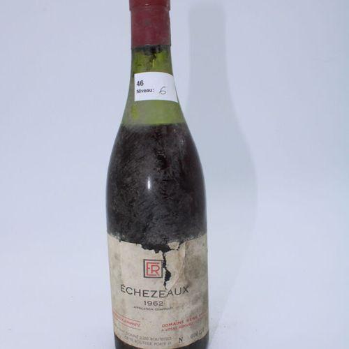 René Engel酒庄,Echezeaux 1962年,水平面6厘米,污损的标签,缺少腐蚀的盖子