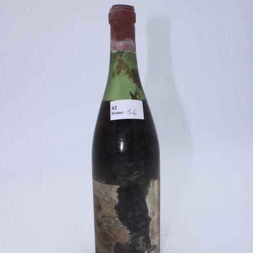 Domaine René Engel, Echezeaux probablement 1962, niveau 6.6 cm, étiquette tachée…