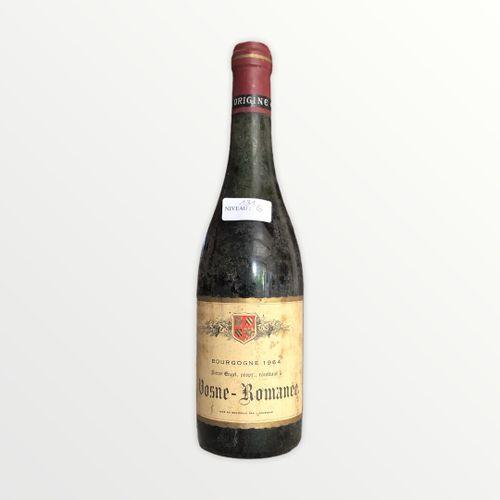Domaine René Engel, Pierre Engel, Vosne Romanée 1964, niveau 6 cm , étiquette ta…