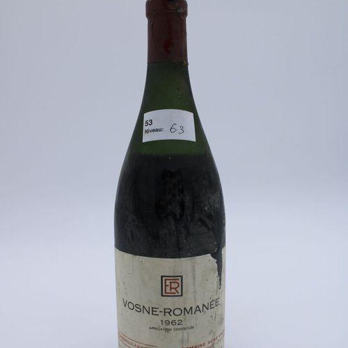 Domaine René Engel, Vosne Romanée 1962, niveau 6.3 cm, étiquette tachée