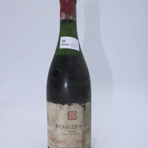 Domaine René Engel, Echezeaux 1962, niveau 6.2 cm, étiquette tachée, manques, ca…