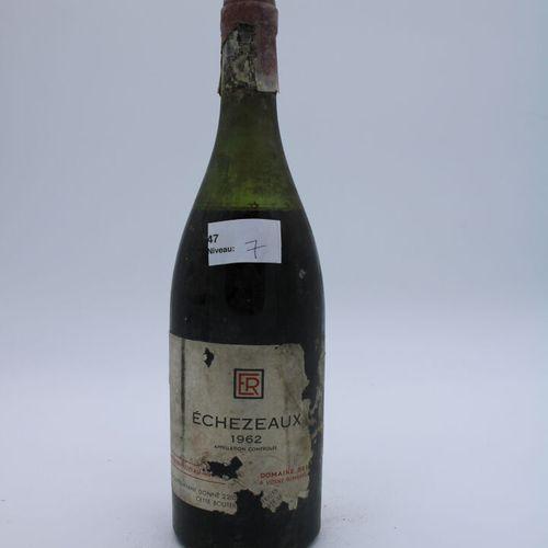 Domaine René Engel, Echezeaux 1962, niveau 7 cm, étiquette tachée, manques capsu…