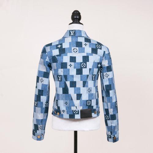 Louis Vuitton. A Denim Monogram Jeans Jacket. Cotton with monogram print ornamen…