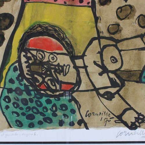 Guillaume Corneille van Beverloo (1922 2010) Watercolour on paper signed Guillau…