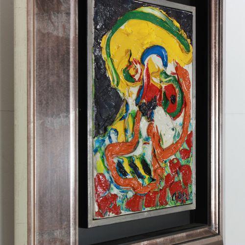 Karel Appel (1921 2006) Tableau huile/toile de Karel Appel, ' 76, ** Head ** ave…