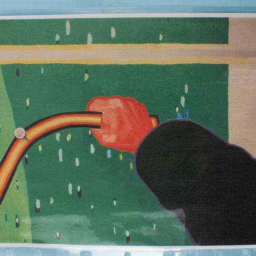 Roger Raveel (1921 2013) Tableau à huile sur un support en mixed media et toile …
