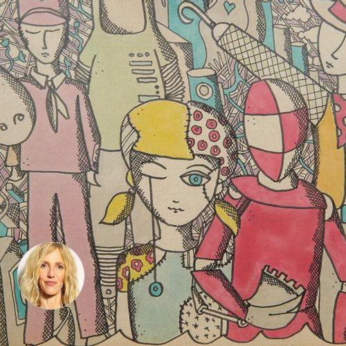 Sandrine Kiberlain Sandrine Kiberlain offre un dessin de Robin Feix, bassisteet…