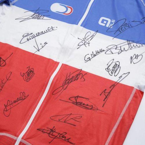 FÉDÉRATION FRANÇAISE DE CYCLISME Maillot dédicacé Champion de France de cyclisme…