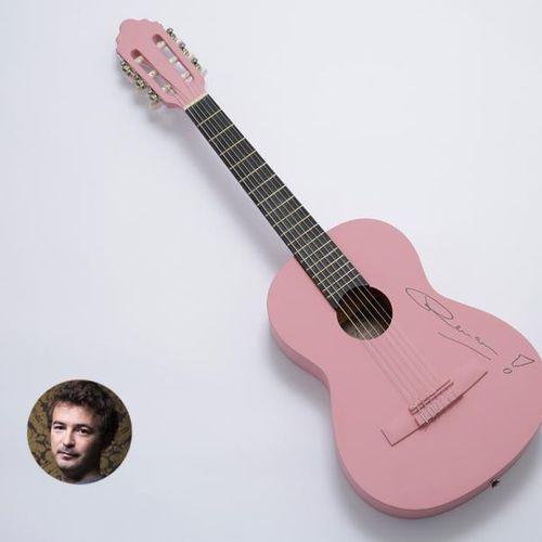 """Renan LUCE """"Guitare du Soldat Rose"""" Guitare acoustique de marque VALENCIA, peint…"""