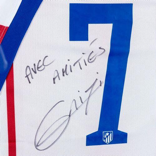 """Antoine GRIEZMANN Maillot de football n° 7. Atletico de Madrid. Dédicacé """"Avec a…"""