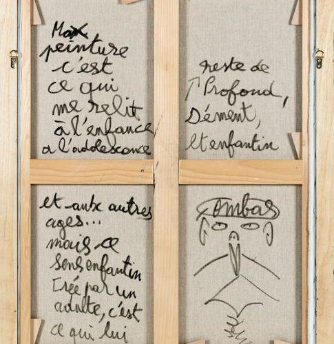 """Robert COMBAS (Né en 1957) Acrylique sur toile. Signé """"Combas"""" en bas au centre.…"""