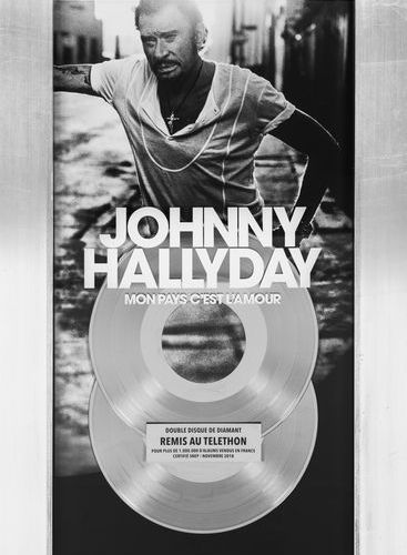 Johnny HALLYDAY Double disque de diamant de l'album Mon pays c'est l'amour. Plaq…