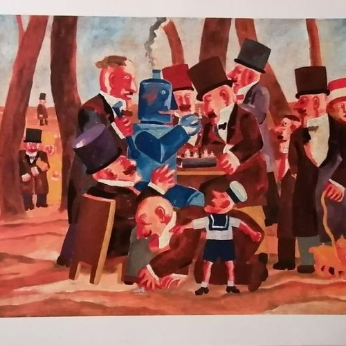 """Franz Borghese """"Chess game with robot"""" Franz Borghese (Rome, 1941 Rome, 2005) """"C…"""