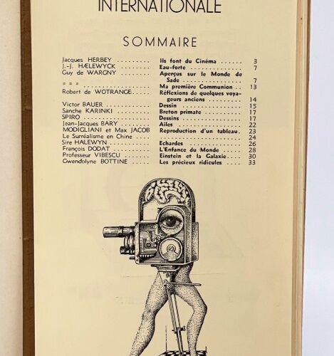 Popocatepetl. Revue surréaliste internationale. HAELEWYCK Jeff Joris, SPIRO, WAR…