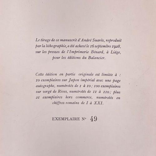 SUARES. Haï Kaï d'Occident. SUARES André. Haï Kaï d'Occident.  Liège, Editions d…