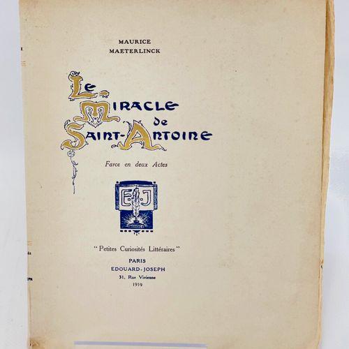 MAETERLINCK. Le Miracle de Saint Antoine. MAETERLINCK Maurice. Le Miracle de Sai…