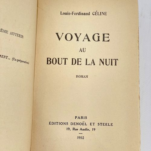 CELINE. Voyage au bout de la nuit. CELINE Louis Ferdinand. Voyage au bout de la …