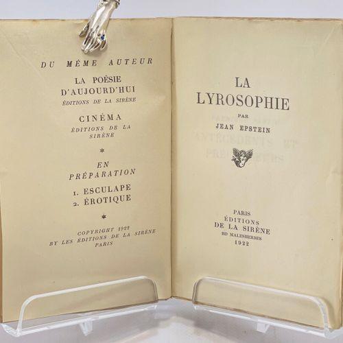 EPSTEIN. La Lyrosophie. EPSTEIN Jean. La Lyrosophie.  Paris, Editions de la Sirè…