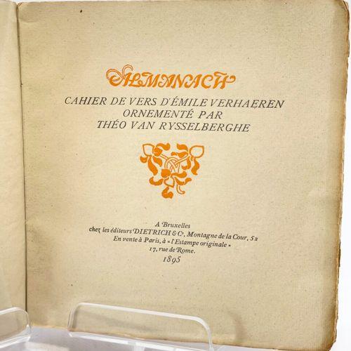 VERHAEREN. RYSSELBERGHE. Almanach. VERHAEREN Émile. Almanach. Cahier de vers d'É…