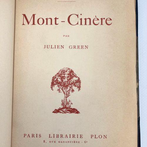 GREEN. Mont Cinère. GREEN Julien. Mont Cinère.  Paris, Plon Nourrit et Cie, coll…